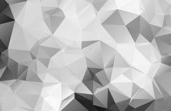 Czarny i biały abstrakcjonistyczny tło wielobok Zdjęcie Royalty Free