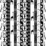 Czarny i biały Afrykański bezszwowy wzór EPS10 Obrazy Stock