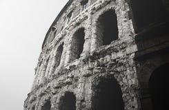 Czarny i biały antyczna Romańska arena w Rzym, Włochy Obraz Royalty Free
