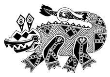 Czarny i biały autentyczny oryginalny dekoracyjny royalty ilustracja