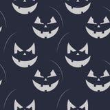 Czarny i biały bania wzór dla Halloween Wektorowy bezszwowy bania wzór ilustracja wektor