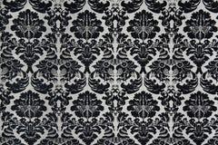 Czarny I Biały Barock tło Zdjęcia Royalty Free