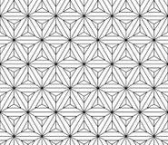 Czarny i biały bezszwowa deseniowa święta geometria ilustracja wektor