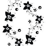 Czarny i biały bezszwowa kwiecista tekstura Obraz Royalty Free