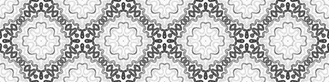 Czarny i biały Bezszwowa Rabatowa ślimacznica geometryczny ilustracji