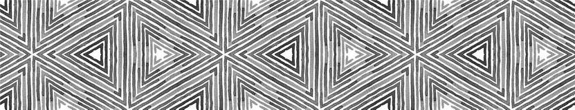 Czarny i biały Bezszwowa Rabatowa ślimacznica geometryczny royalty ilustracja