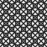 Czarny i biały bezszwowy geomatrical abstact wzór, digonal wykłada tworzącego gwiazda projekt w nim i rhombus royalty ilustracja