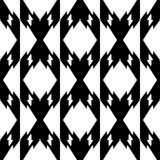 Czarny i biały bezszwowy geometrical wzór zdjęcie stock