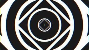 Czarny I Biały Bezszwowy looping hipnozy spirali tło Okrąża hipnotyczną animację Hipnotyczny graficzny skutek ilustracja wektor