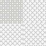 Czarny i biały bezszwowy opłatkowy gofr tekstury set Fotografia Royalty Free
