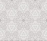 Czarny i biały bezszwowy ornament robić w kalejdoskopowym stylu Obraz Royalty Free