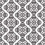 Czarny i biały bezszwowy tło wzoru ornament Nowożytna elegancka wielostrzałowa tekstura Zdjęcie Royalty Free