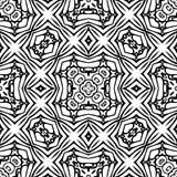 Czarny i biały Bezszwowy Wielostrzałowy wektoru wzór Obraz Royalty Free