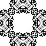Czarny i biały Bezszwowy Wielostrzałowy wektoru wzór Obrazy Stock