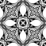 Czarny i biały Bezszwowy Wielostrzałowy wektoru wzór Zdjęcia Royalty Free