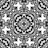 Czarny i biały Bezszwowy Wielostrzałowy wektoru wzór Fotografia Stock