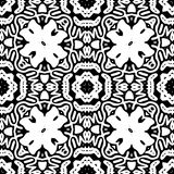 Czarny i biały Bezszwowy Wielostrzałowy wektoru wzór Zdjęcia Stock