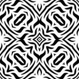 Czarny i biały Bezszwowy Wielostrzałowy wektoru wzór Obraz Stock
