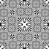 Czarny i biały Bezszwowy Wielostrzałowy wektoru wzór Zdjęcie Stock