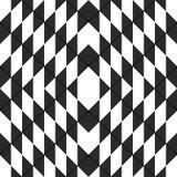 Czarny i biały bezszwowy wyginający się wzór zdjęcia stock