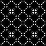 Czarny i biały bezszwowy wyginający się wzór fotografia stock