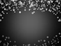 Czarny i biały bokeh abstrakta tło Obraz Royalty Free