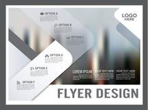 Czarny i biały broszurka układu projekta szablon rocznik Fotografia Stock