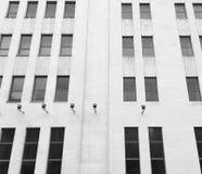 Czarny i biały budynków okno architektury szczegół Obraz Royalty Free