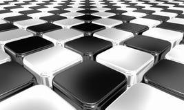 Czarny i biały chequered tło Zdjęcie Stock