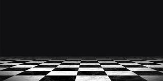 Czarny i biały chessboard tło Fotografia Stock