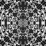 Czarny i biały deseniowy geometrical tło Obraz Stock