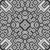 Czarny i biały deseniowy geometrical tło Obrazy Stock