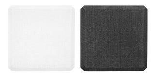 Czarny i biały drewniany blok fotografia stock