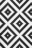 Czarny i biały dywan zdjęcie royalty free