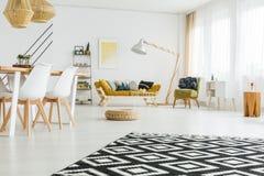 Czarny i biały dywan obraz royalty free