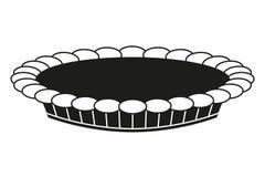Czarny i biały dziękczynienie kulebiaka sylwetka fotografia stock