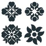 Czarny i biały elementy ilustracja wektor