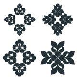 Czarny i biały elementy obraz royalty free