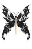 Czarny i biały farba zrobił motyla ilustracji