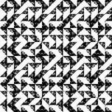 Czarny i biały gąbka druku trójboków geometrycznego grunge bezszwowy wzór, wektor ilustracja wektor
