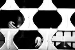 Czarny i biały gabloty wystawowej mannequin i story ręki Zdjęcia Stock