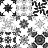 Czarny i biały geometryczne płytki ilustracji