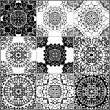 Czarny i biały geometryczne płytki ilustracja wektor
