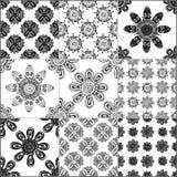Czarny i biały geometryczne płytki royalty ilustracja