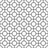 Czarny i biały geometryczny bezszwowy wzór ilustracji