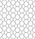 Czarny i biały geometryczny bezszwowy wzór, abstrakcjonistyczny tło ilustracji