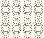 Czarny i biały geometryczny bezszwowy wzór z cienkimi liniami, siatka, kratownica, sieć royalty ilustracja