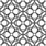 Czarny i biały geometryczny bezszwowy wzór z falistą linią i ci Fotografia Royalty Free