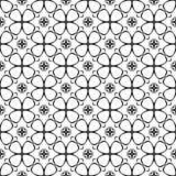Czarny i biały geometryczny wzór w powtórce Tkanina druk Bezszwowy tło, mozaika ornament, etniczny styl ilustracja wektor