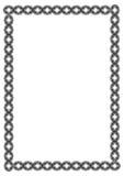 Czarny i biały giloszuje vertical ramę Raster klamerki sztuka Fotografia Stock